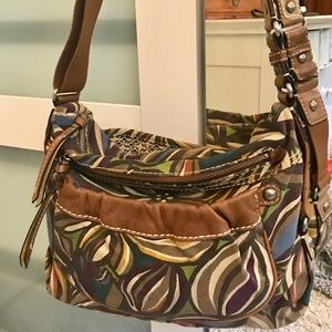 FOSSIL CANVAS & LEATHER BAG ZB2832